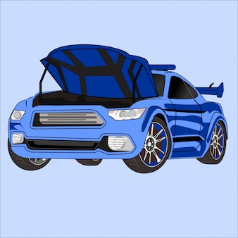 Vector illustration of flat design car