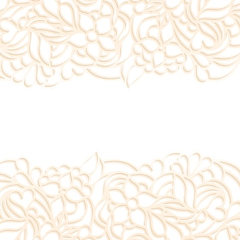 Vector illustration of floral border on white background