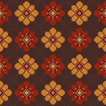 Vector illustration of folk seamless pattern ornament. ethnic ornament