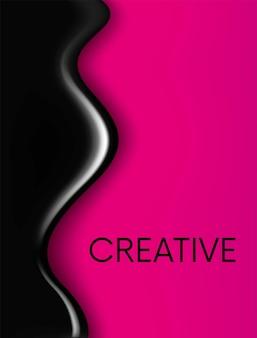 Векторная иллюстрация для плаката поздравительной открытки или обложки готовая концепция краска крови или смолы