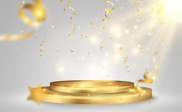 Векторная иллюстрация для победителей премии пьедестал или платформа для чествования победителей