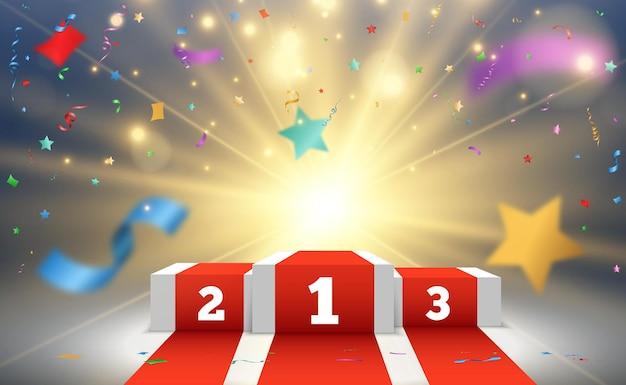 受賞者のためのベクターイラスト台座または受賞者を称えるためのプラットフォーム