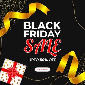 Векторная иллюстрация для баннера продажи черная пятница