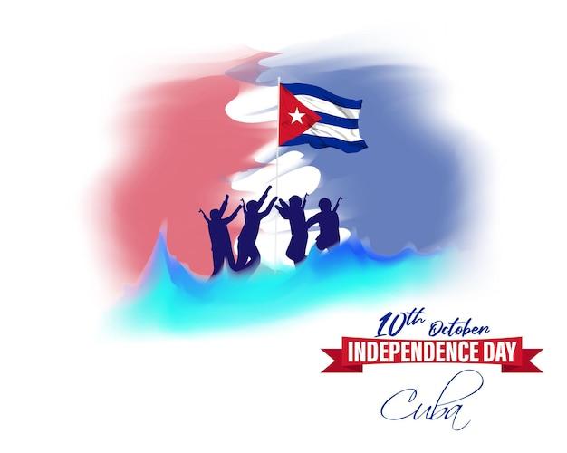 キューバ独立記念日-10月10日のベクトルイラスト