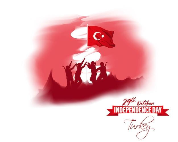 Векторная иллюстрация на день независимости турции 29 октября