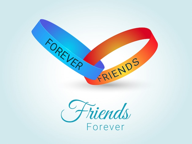 Vector illustration of friends forever band