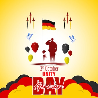 Vector illustration for german unity day-3 october