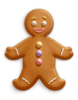 Vector illustration of a gingerbread man.