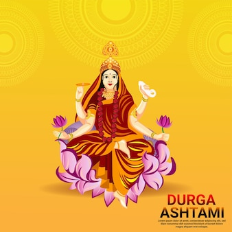 Vector illustration of goddess durga for happy durga puja