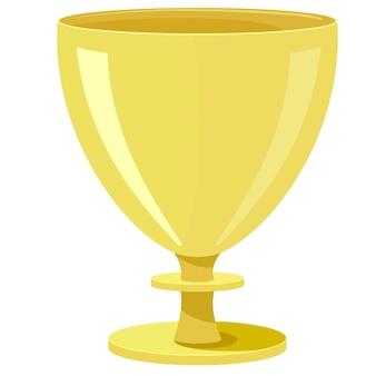 Vector illustration of a golden bowl