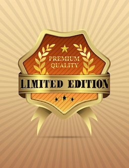 Vector illustration of golden limited edition