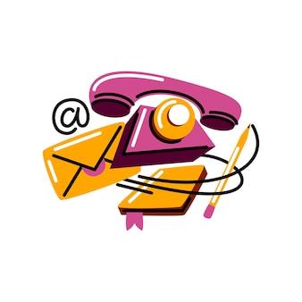 Vector illustration in graphic style. digital art