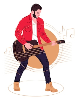 Vector illustration in graphic style