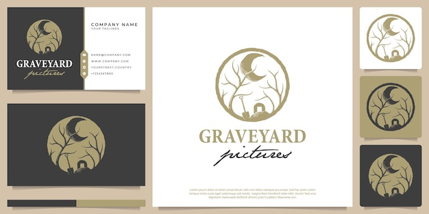 Vector illustration of graveyard pictures