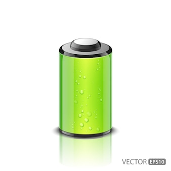 Vector illustration of green battery icon
