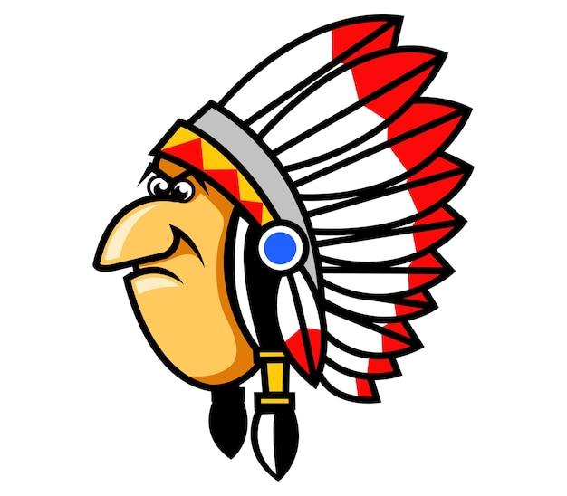 Vector illustration of grumpy indians