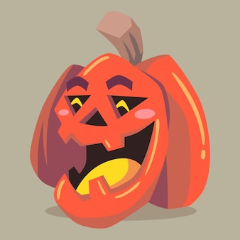 Vector illustration halloween character pumpkin jack