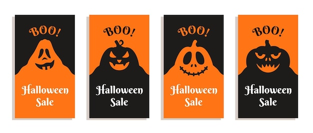 Vector illustration of halloween flyers black and red flyers for halloween