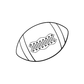 Vector illustration hand drawn doodle of leather american football or rugby ball