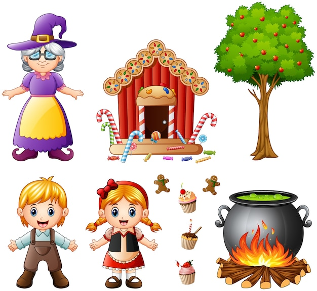 Vector illustration of hansel and gretel collections