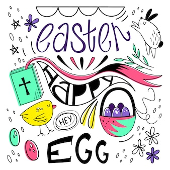 Vector illustration of happy easter