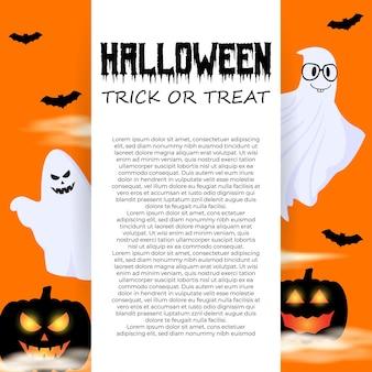 Vector illustration of happy halloween festival banner