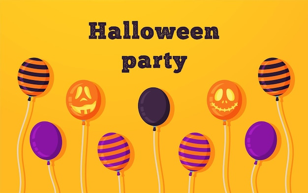 Vector illustration of a happy halloween poster for the halloween holiday bright scary lollipops