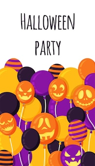 Vector illustration of a happy halloween. poster for the halloween holiday. bright scary lollipops.