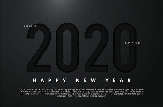 Vector illustration of happy new year 2020