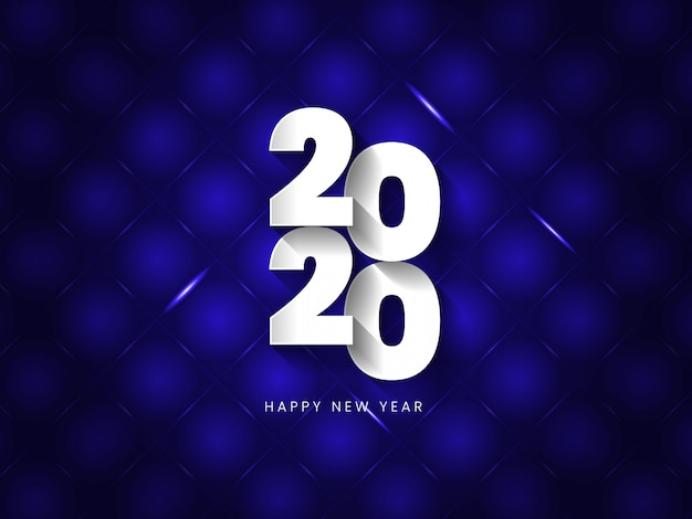 Vector illustration of happy new year blue and black collors
