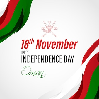 Vector illustration of happy oman independence day