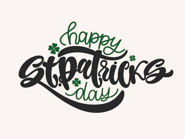 Vector illustration of happy saint patrick's day logotype.