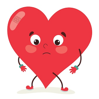 Vector illustration of heart character