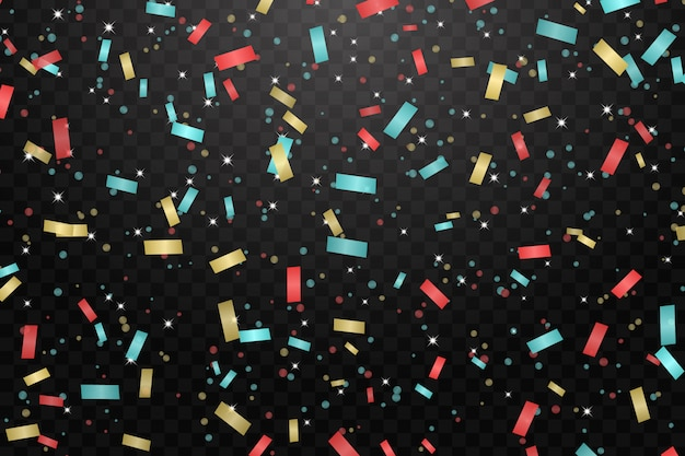 Vector illustration of holiday confetti background