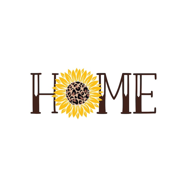 Векторная иллюстрация home sweet home крыльцо знак с подсолнухом, изолированные на белом фоне