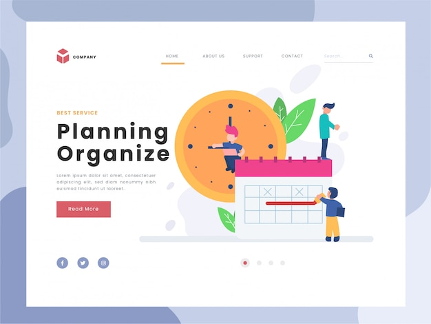 Vector illustration idea concept for landing page template,planning and organization of tasks on board, flat tiny persons man working with timeline, system organizing for daily routine,flat styles