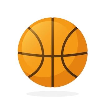 Векторная иллюстрация в плоском стиле баскетбольный мяч спортивное оборудование