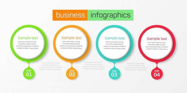Vector illustration infographic design template with  4 options or steps