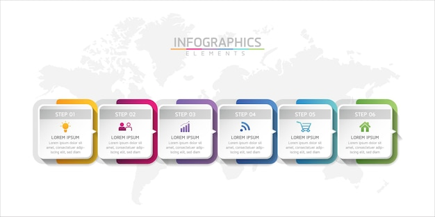 Vector illustration infographics design template business information