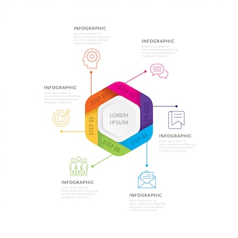ベクトル図infographics 6つのオプション