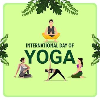 Vector illustration of international yoga day background