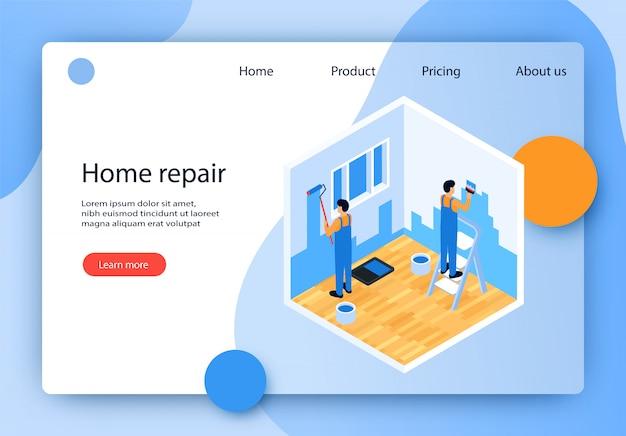 Vector illustration is written home repair flat.