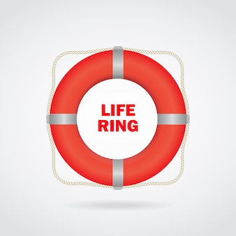Vector illustration: isolated life buoy