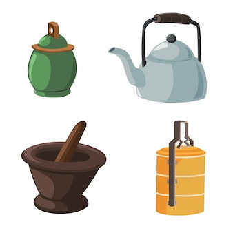 Vector illustration of items in the house