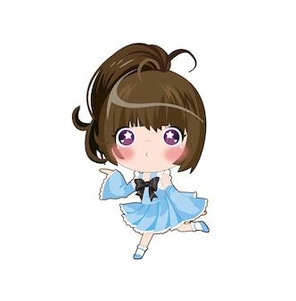Vector illustration of japanese manga beauty girl