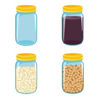 Vector illustration of jars