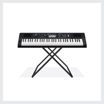 Vector illustration keyboard instrument