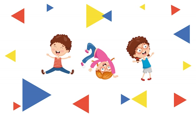 Vector illustration of kids abstract background