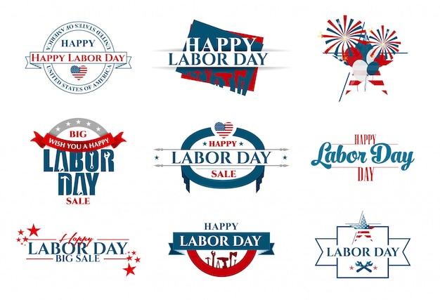 Векторная иллюстрация день труда - национальный праздник любви сша к родине и традициям ее народа