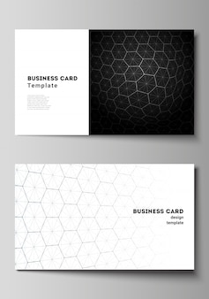 Vector illustration layout of two creative business cards